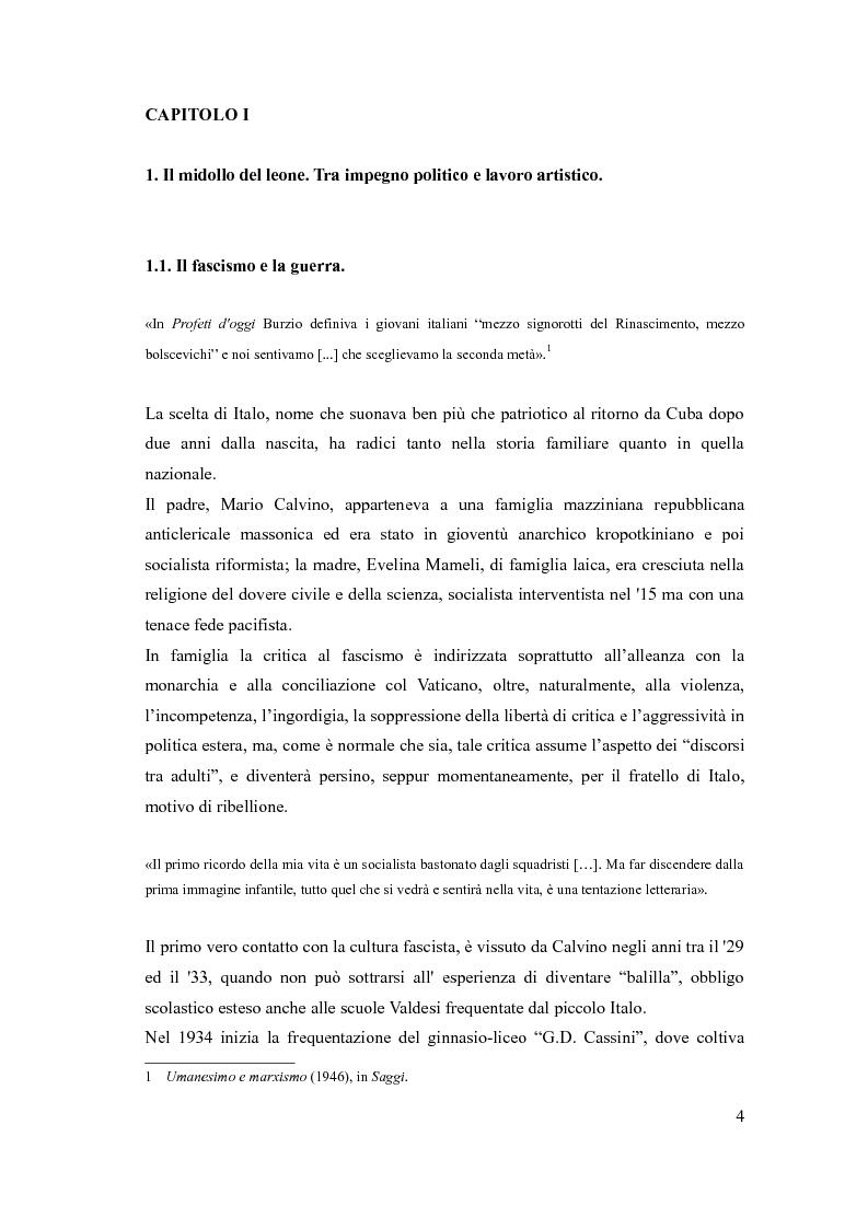Anteprima della tesi: I sentieri di Italo Calvino, Pagina 4