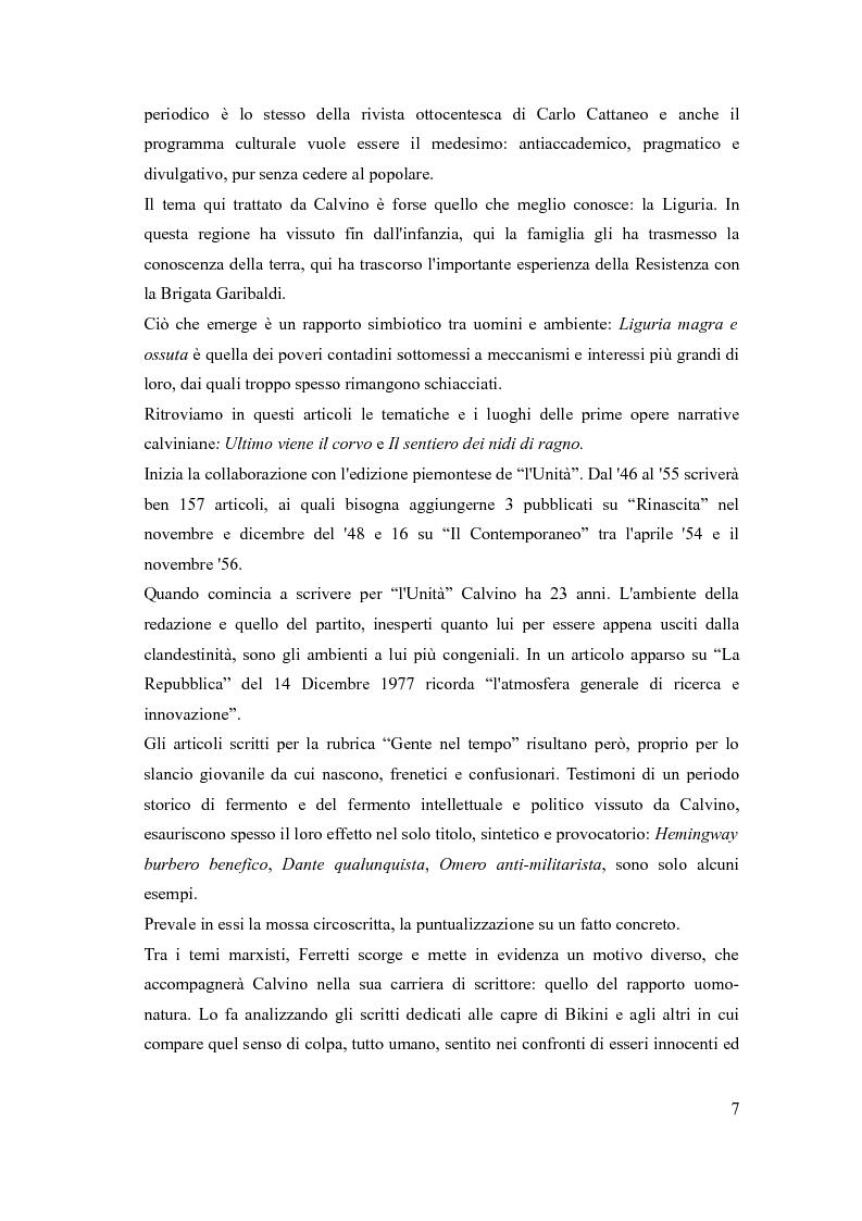 Anteprima della tesi: I sentieri di Italo Calvino, Pagina 7