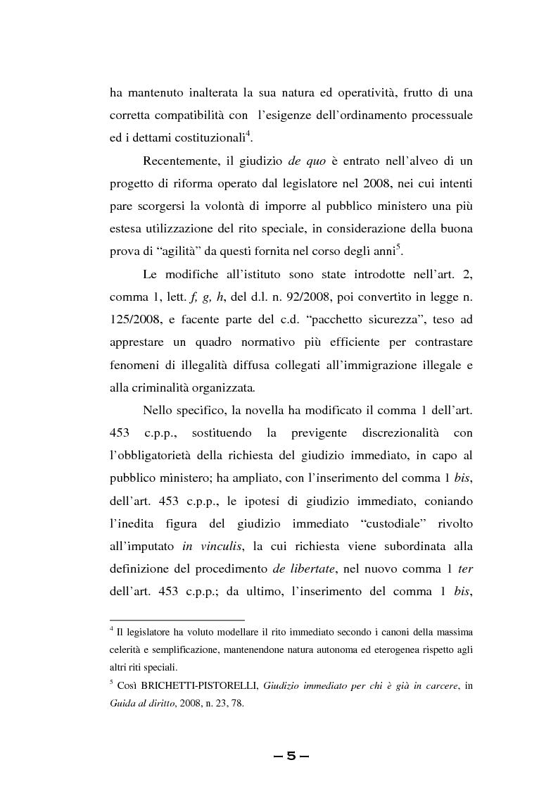 Anteprima della tesi: Il rito immediato alla luce della riforma del 2008. La poliedricità di un istituto, Pagina 2