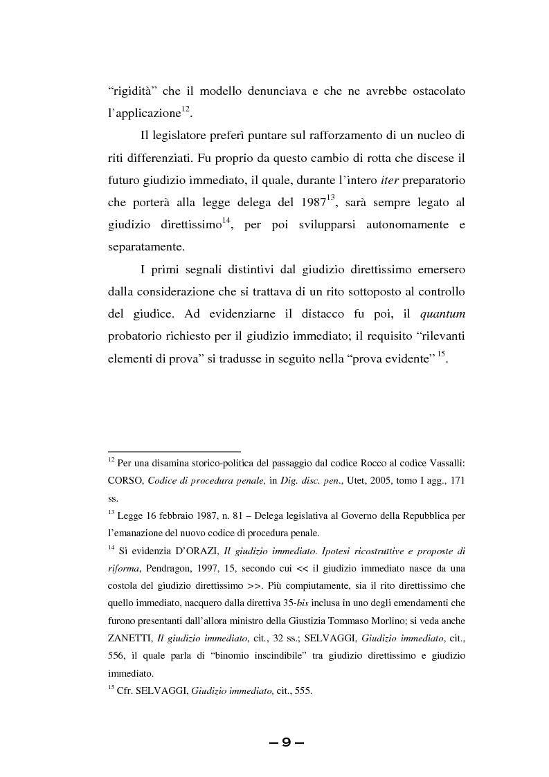 Anteprima della tesi: Il rito immediato alla luce della riforma del 2008. La poliedricità di un istituto, Pagina 6