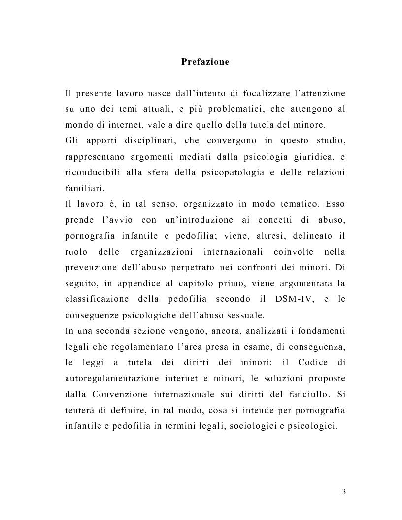 Anteprima della tesi: La tutela del minore nell'ottica dell'evoluzione del processo telematico: profili normativi e risvolti psicologici, Pagina 1