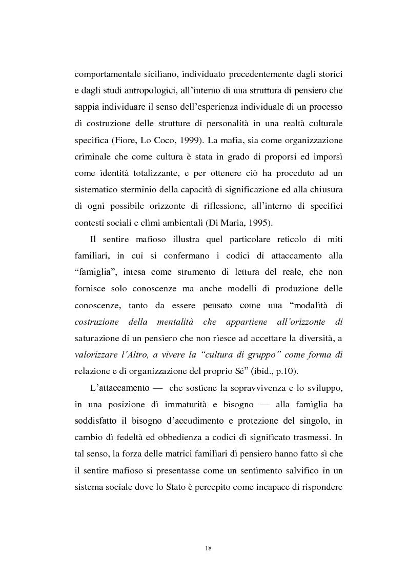 Anteprima della tesi: Il mondo a una dimensione della mafia fratture di un sistema monadico: un contributo di ricerca nell'area sud orientale della Sicilia, Pagina 10