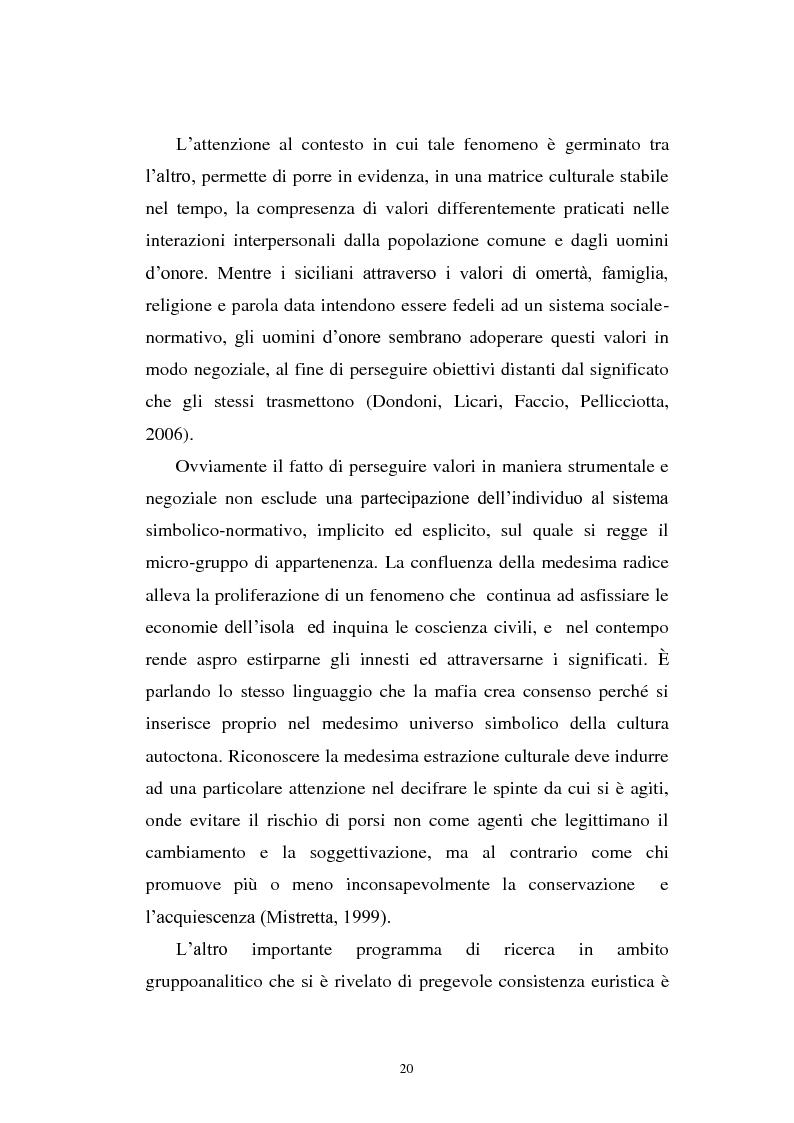 Anteprima della tesi: Il mondo a una dimensione della mafia fratture di un sistema monadico: un contributo di ricerca nell'area sud orientale della Sicilia, Pagina 12