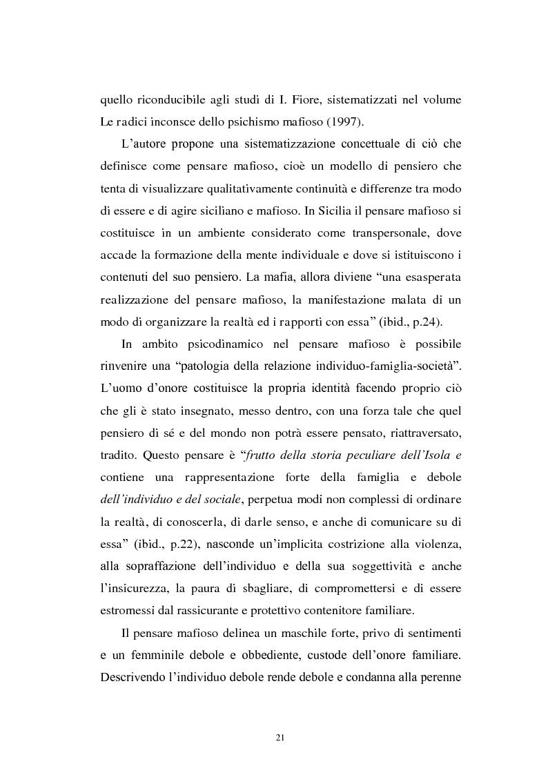 Anteprima della tesi: Il mondo a una dimensione della mafia fratture di un sistema monadico: un contributo di ricerca nell'area sud orientale della Sicilia, Pagina 13