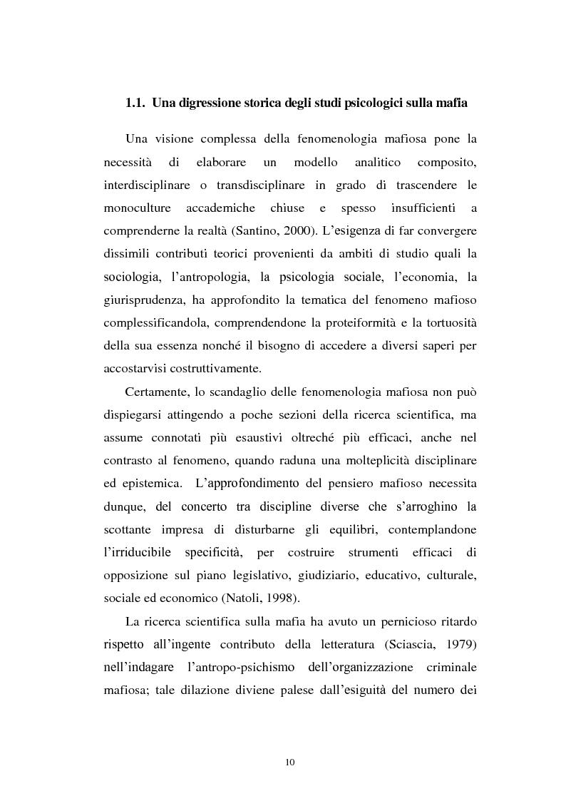 Anteprima della tesi: Il mondo a una dimensione della mafia fratture di un sistema monadico: un contributo di ricerca nell'area sud orientale della Sicilia, Pagina 2