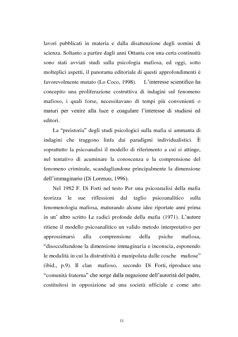 Anteprima della tesi: Il mondo a una dimensione della mafia fratture di un sistema monadico: un contributo di ricerca nell'area sud orientale della Sicilia, Pagina 3