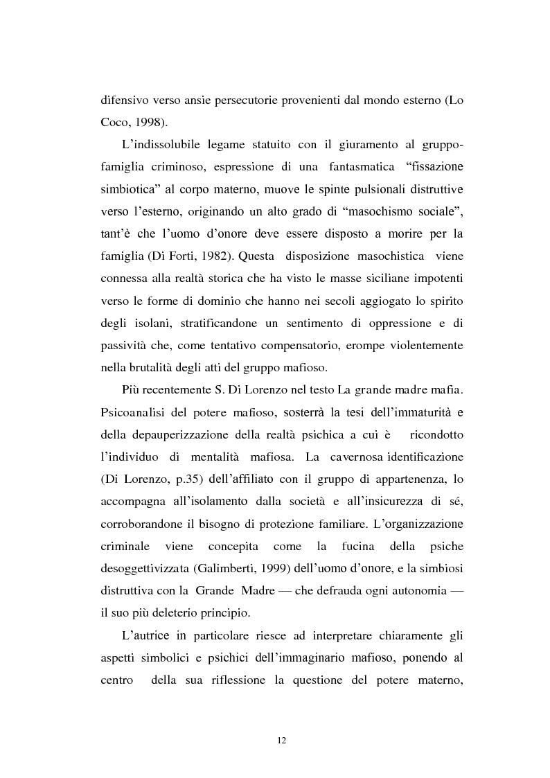 Anteprima della tesi: Il mondo a una dimensione della mafia fratture di un sistema monadico: un contributo di ricerca nell'area sud orientale della Sicilia, Pagina 4