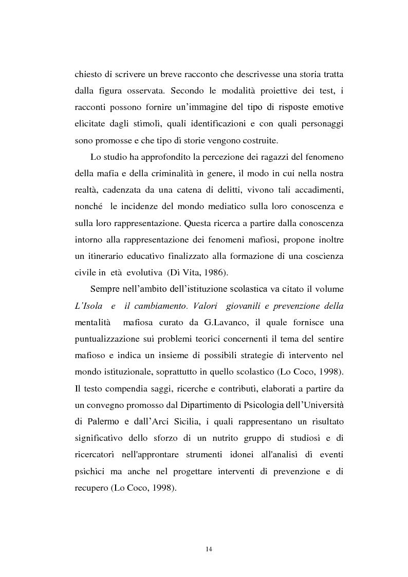 Anteprima della tesi: Il mondo a una dimensione della mafia fratture di un sistema monadico: un contributo di ricerca nell'area sud orientale della Sicilia, Pagina 6