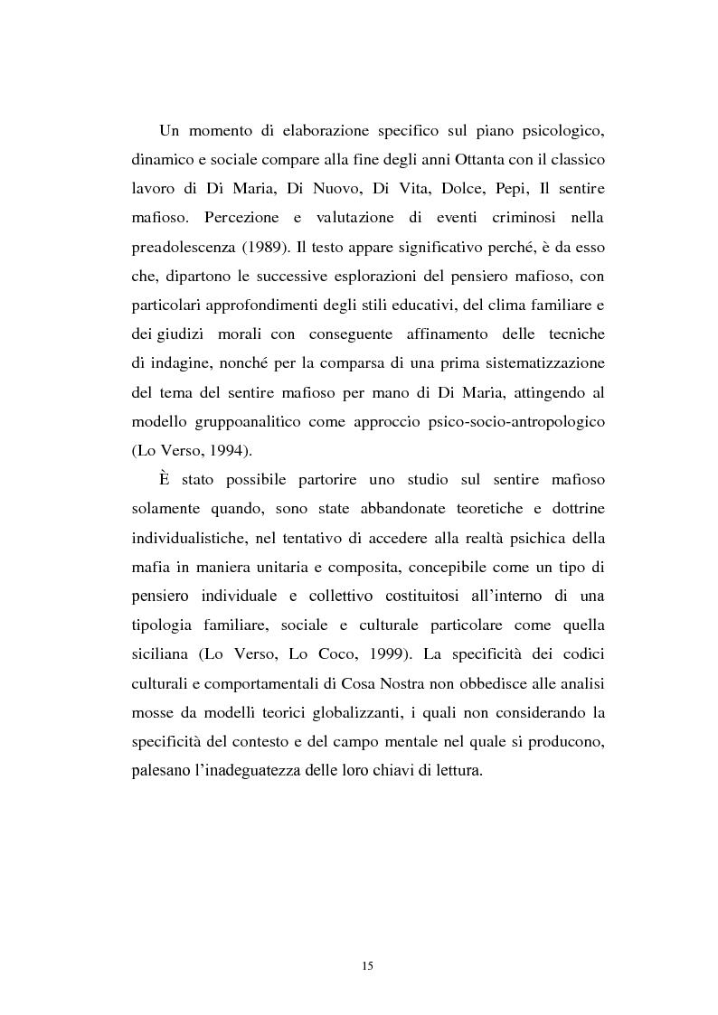 Anteprima della tesi: Il mondo a una dimensione della mafia fratture di un sistema monadico: un contributo di ricerca nell'area sud orientale della Sicilia, Pagina 7