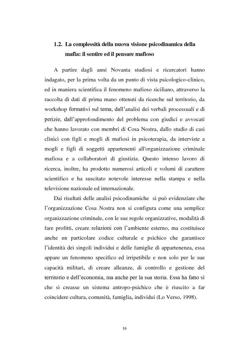 Anteprima della tesi: Il mondo a una dimensione della mafia fratture di un sistema monadico: un contributo di ricerca nell'area sud orientale della Sicilia, Pagina 8
