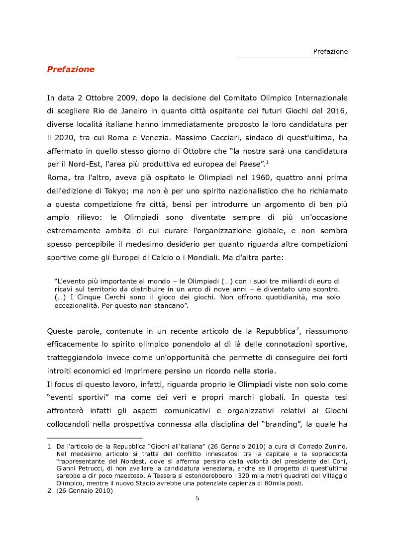 Anteprima della tesi: L'olimpiade come marca. Identità visiva e strategie di brand da Tokyo 1964 a Londra 2012., Pagina 1