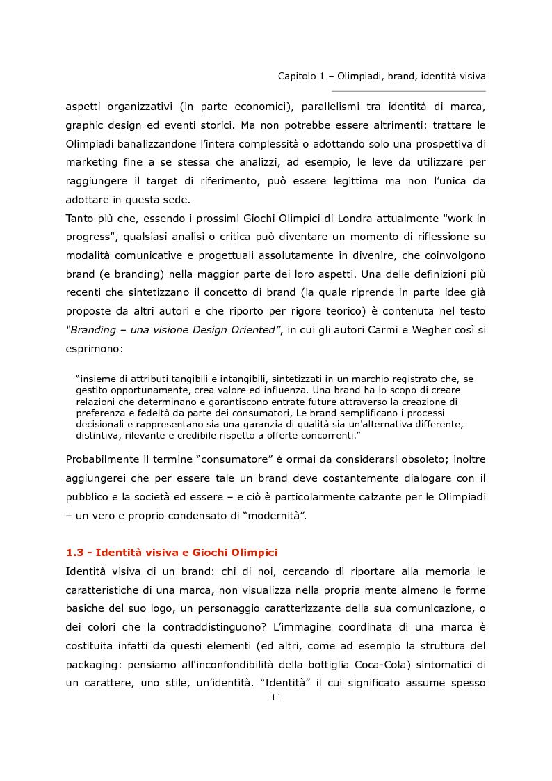 Anteprima della tesi: L'olimpiade come marca. Identità visiva e strategie di brand da Tokyo 1964 a Londra 2012., Pagina 7