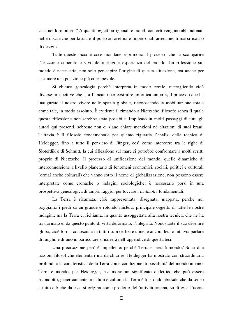 Anteprima della tesi: Genealogia dello spazio globale. Ricami del mondo, richiami della terra., Pagina 2
