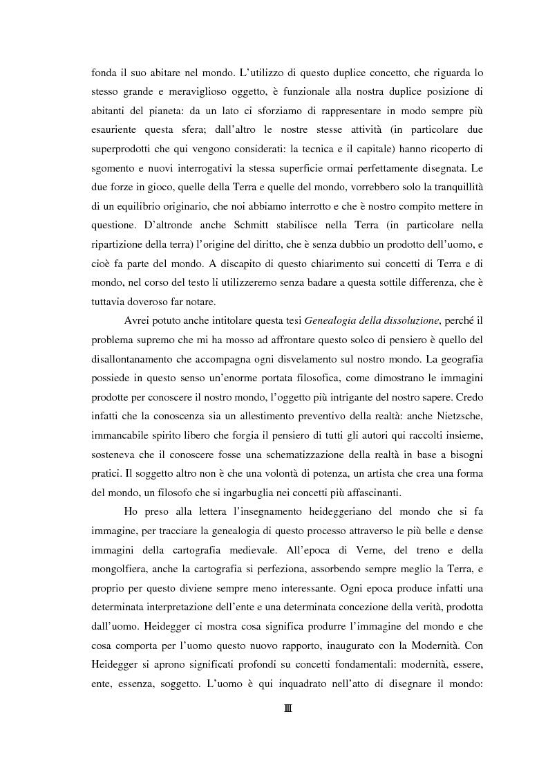 Anteprima della tesi: Genealogia dello spazio globale. Ricami del mondo, richiami della terra., Pagina 3