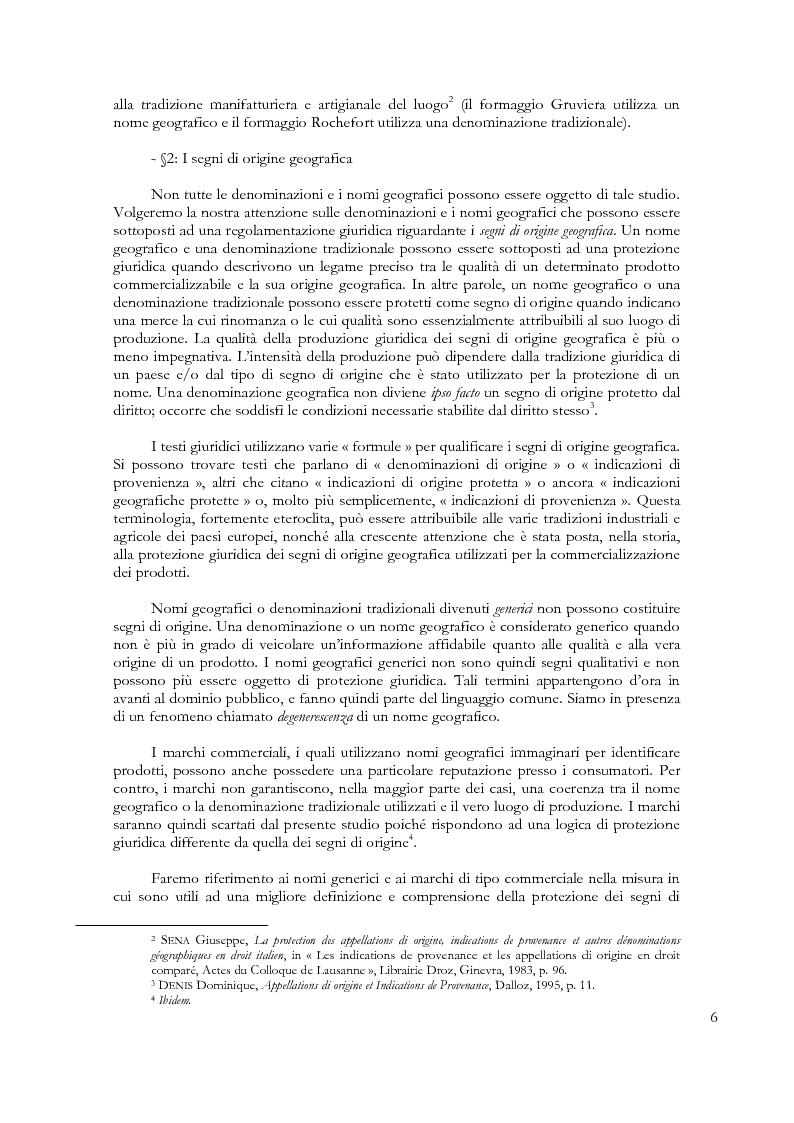 Anteprima della tesi: Denominazioni di origine e indicazioni geografiche: la protezione della proprietà intellettuale all'interno dell'Unione Europea e dell'Organizzazione Mondiale del Commercio, Pagina 2