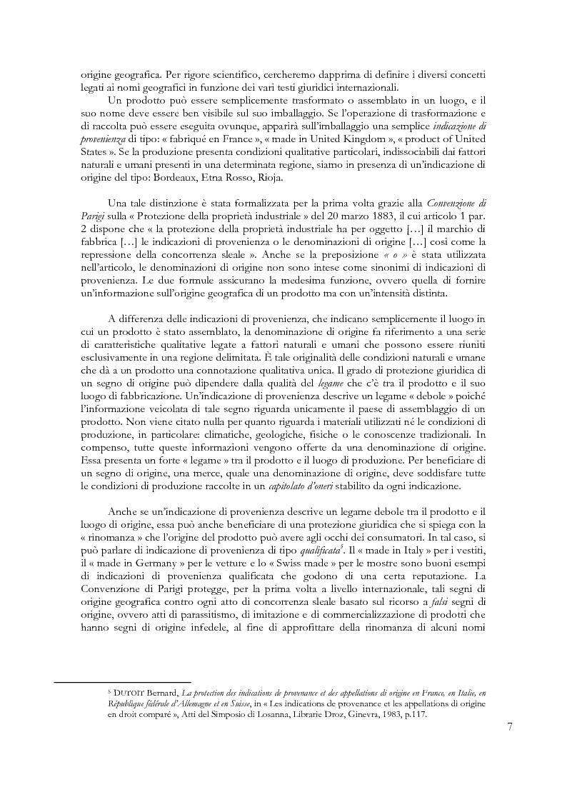 Anteprima della tesi: Denominazioni di origine e indicazioni geografiche: la protezione della proprietà intellettuale all'interno dell'Unione Europea e dell'Organizzazione Mondiale del Commercio, Pagina 3