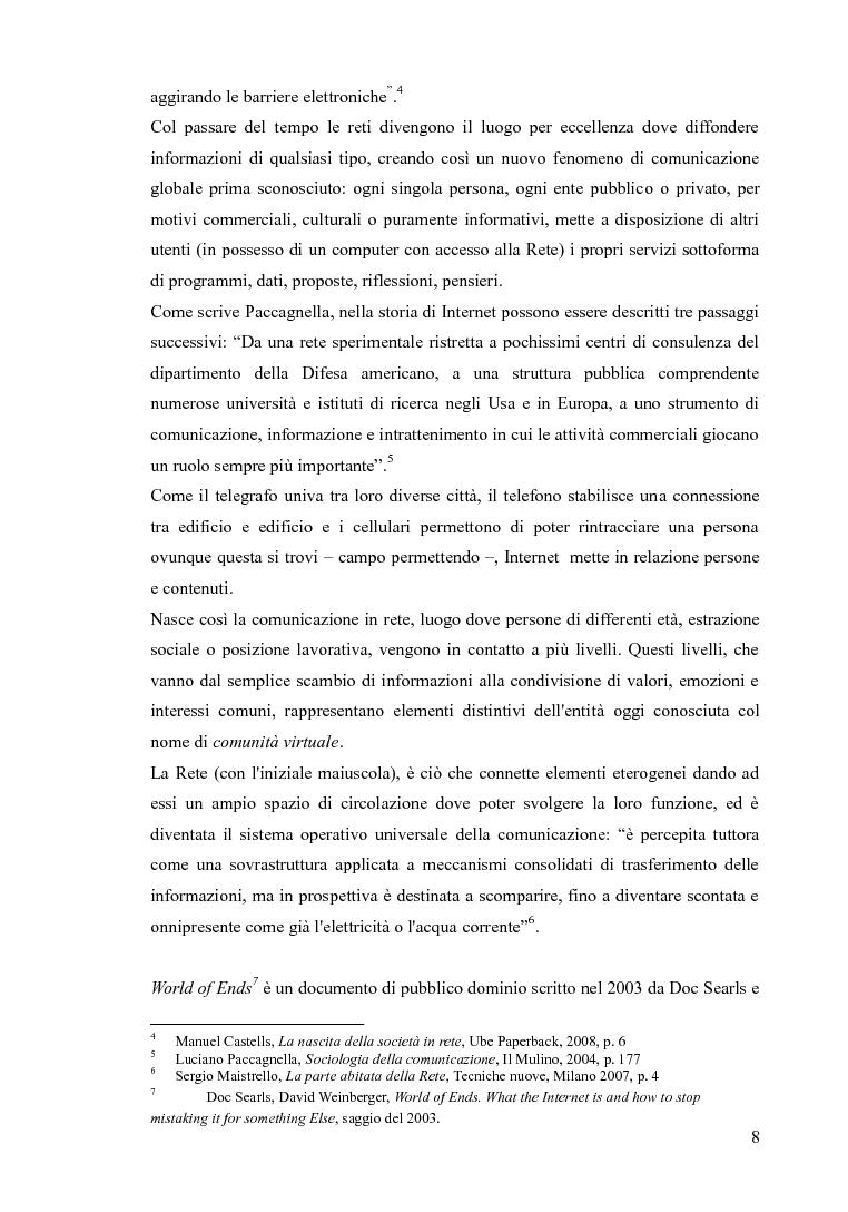 Anteprima della tesi: Blog e social network - Mediamorfosi dell'identità, Pagina 6