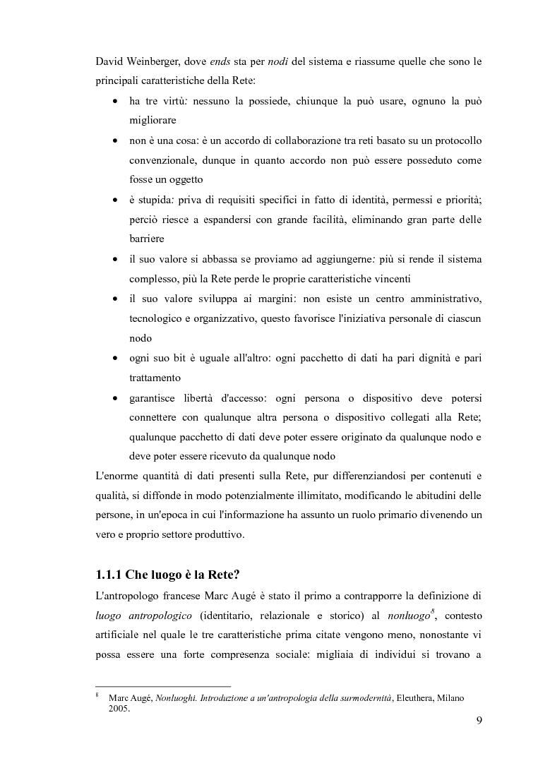 Anteprima della tesi: Blog e social network - Mediamorfosi dell'identità, Pagina 7