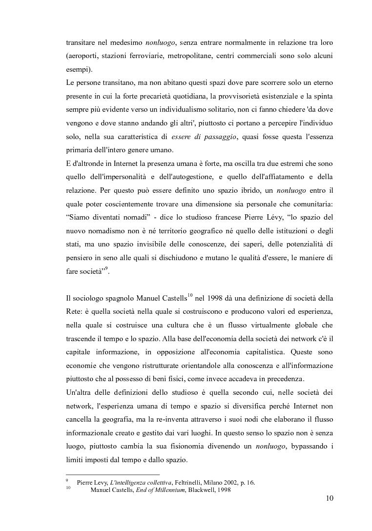 Anteprima della tesi: Blog e social network - Mediamorfosi dell'identità, Pagina 8