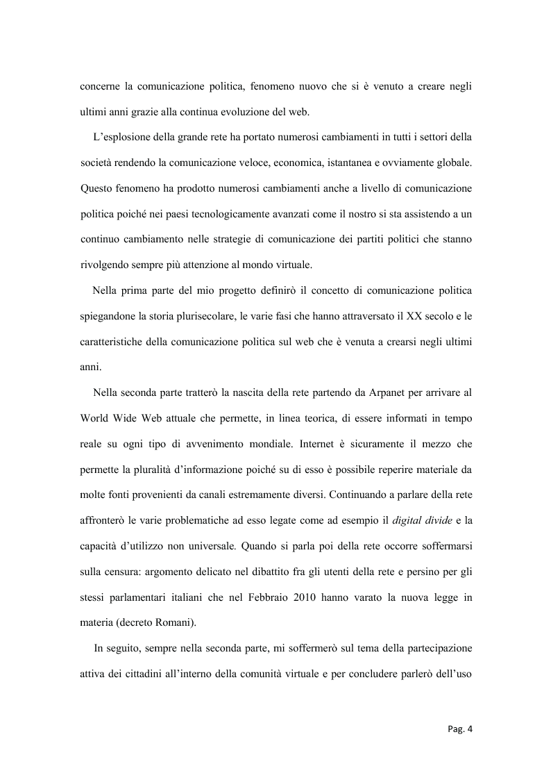 Anteprima della tesi: Politica e nuovi media - La nuova frontiera della comunicazione politica, Pagina 2