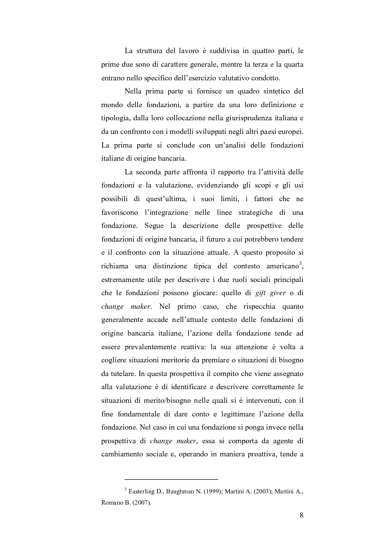 Anteprima della tesi: Il bando scuola 2006 della Fondazione Cassa di Risparmio di Modena: un esercizio di valutazione, Pagina 3