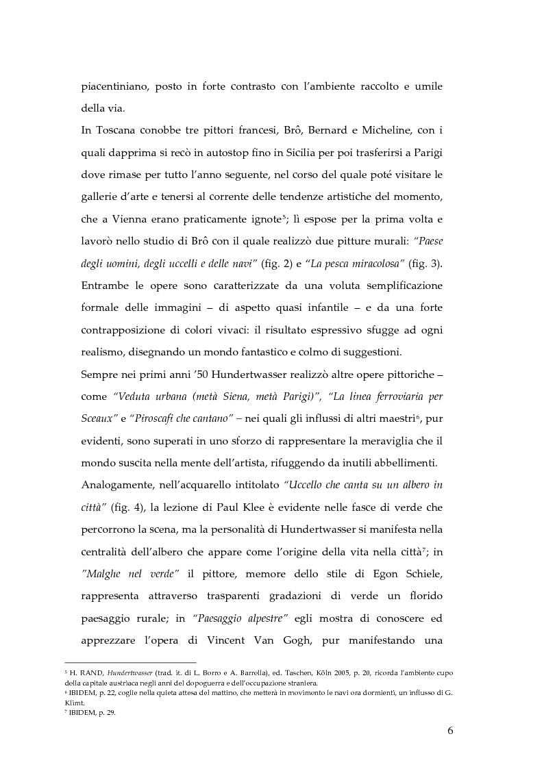 Anteprima della tesi: Hundertwasser e l'Italia 1955 - 1980. Testimonianze di una relazione., Pagina 6