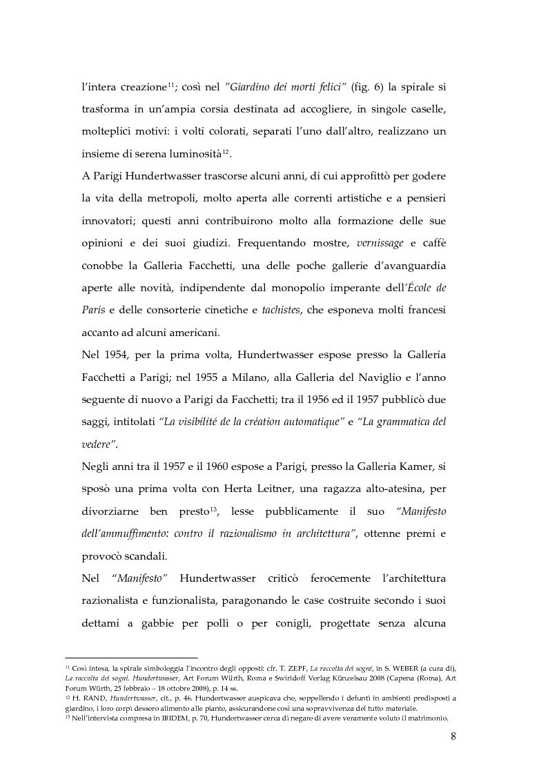 Anteprima della tesi: Hundertwasser e l'Italia 1955 - 1980. Testimonianze di una relazione., Pagina 8