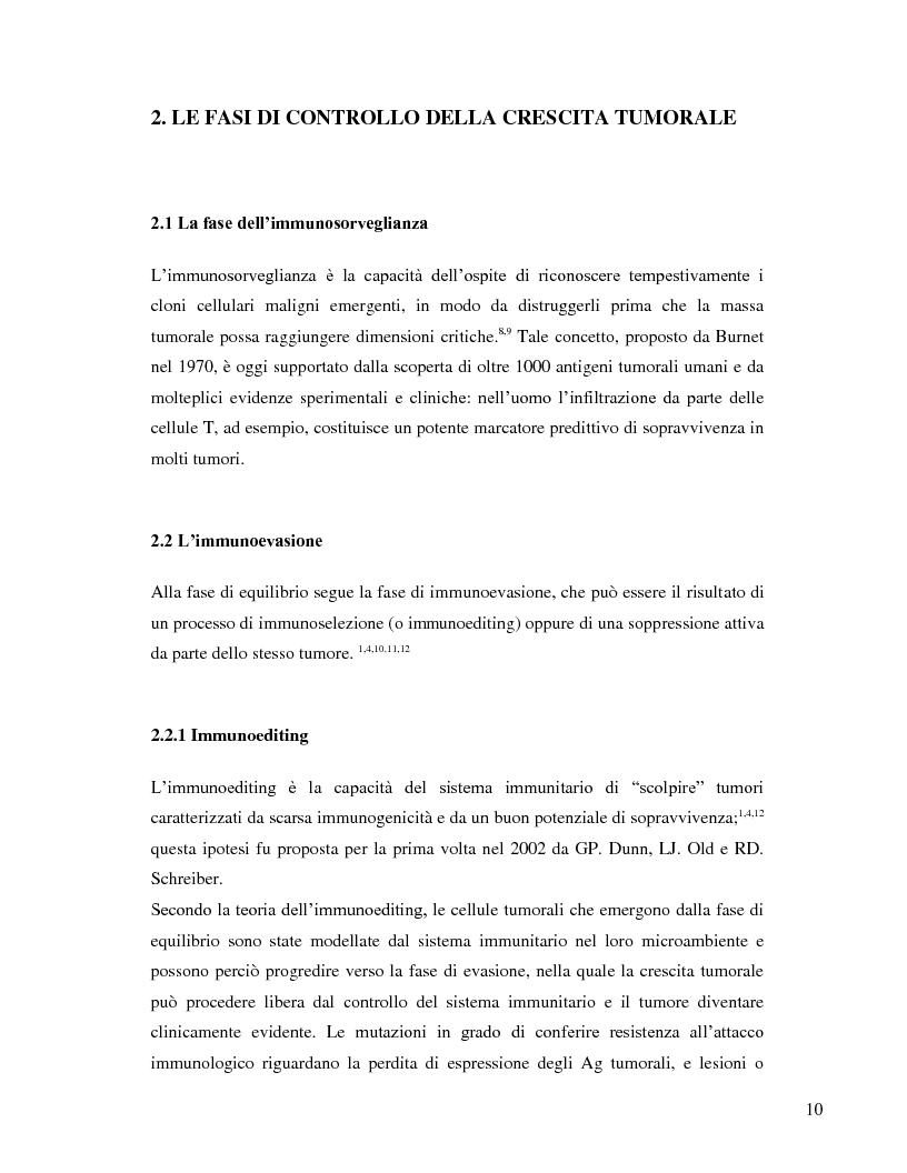 Anteprima della tesi: L'immunosoppressione tumorale nel carcinoma renale, Pagina 7