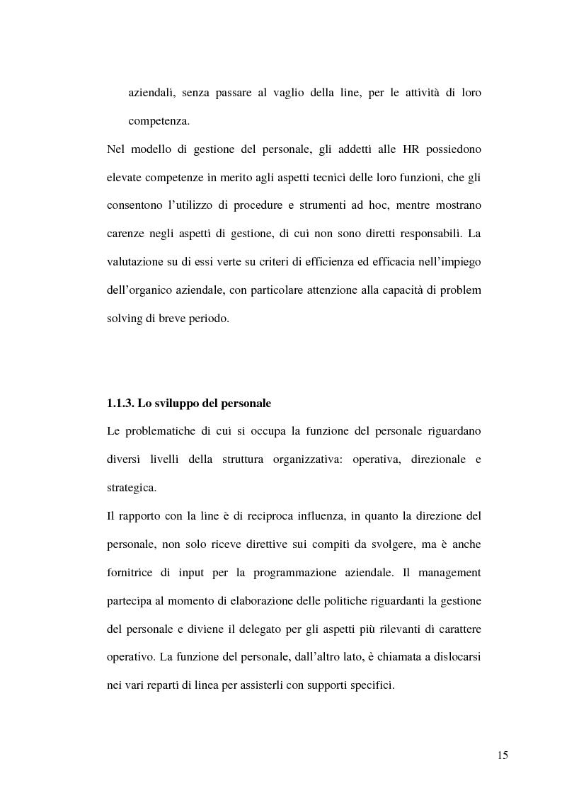 Anteprima della tesi: Gestione delle risorse umane in azienda e Management multiculturale, Pagina 12