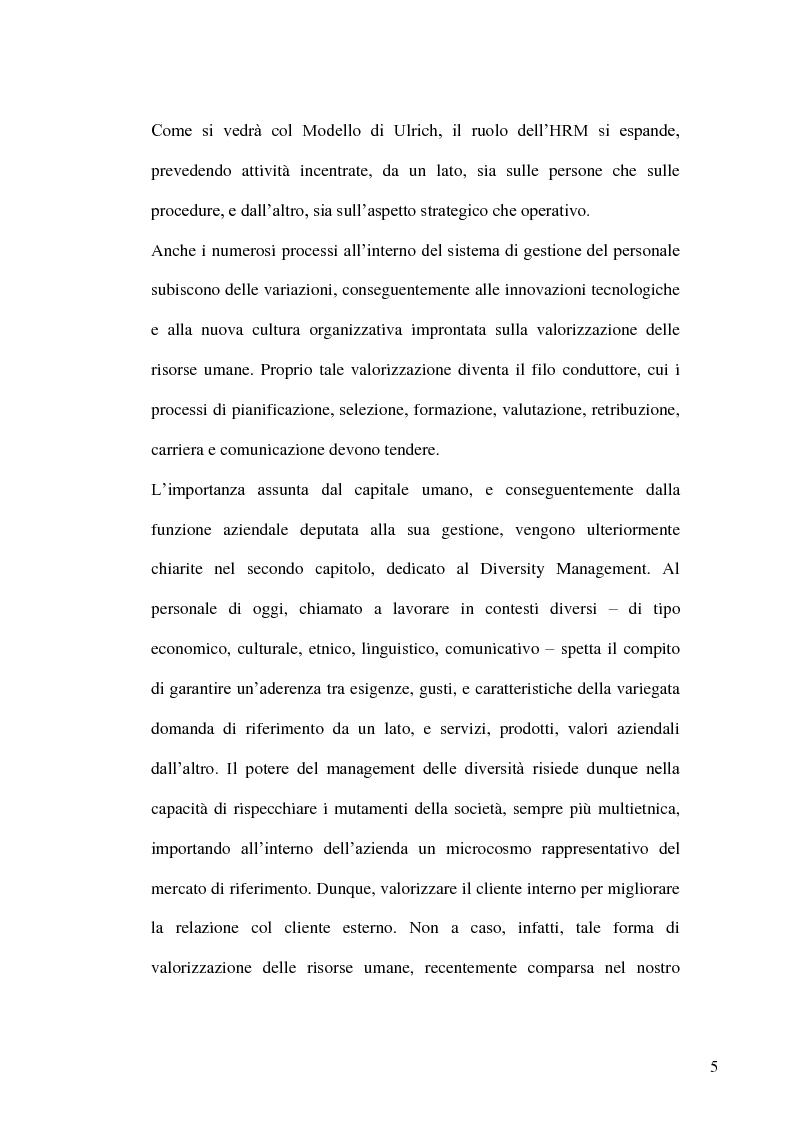 Anteprima della tesi: Gestione delle risorse umane in azienda e Management multiculturale, Pagina 2
