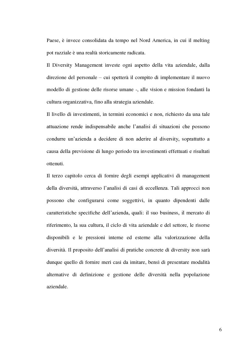 Anteprima della tesi: Gestione delle risorse umane in azienda e Management multiculturale, Pagina 3
