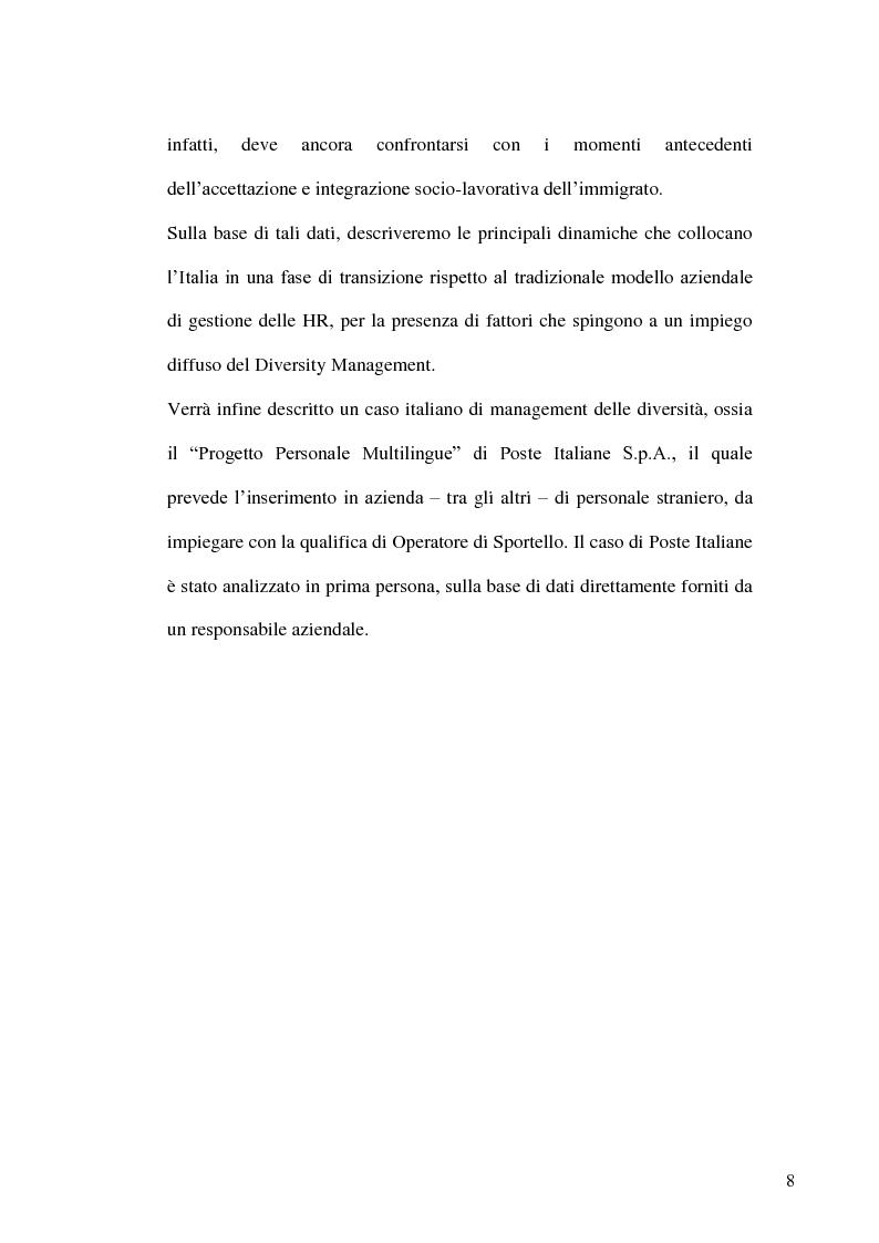 Anteprima della tesi: Gestione delle risorse umane in azienda e Management multiculturale, Pagina 5