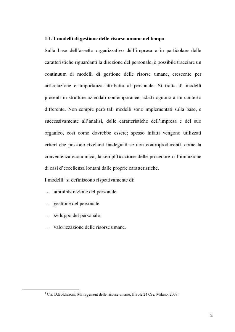 Anteprima della tesi: Gestione delle risorse umane in azienda e Management multiculturale, Pagina 9