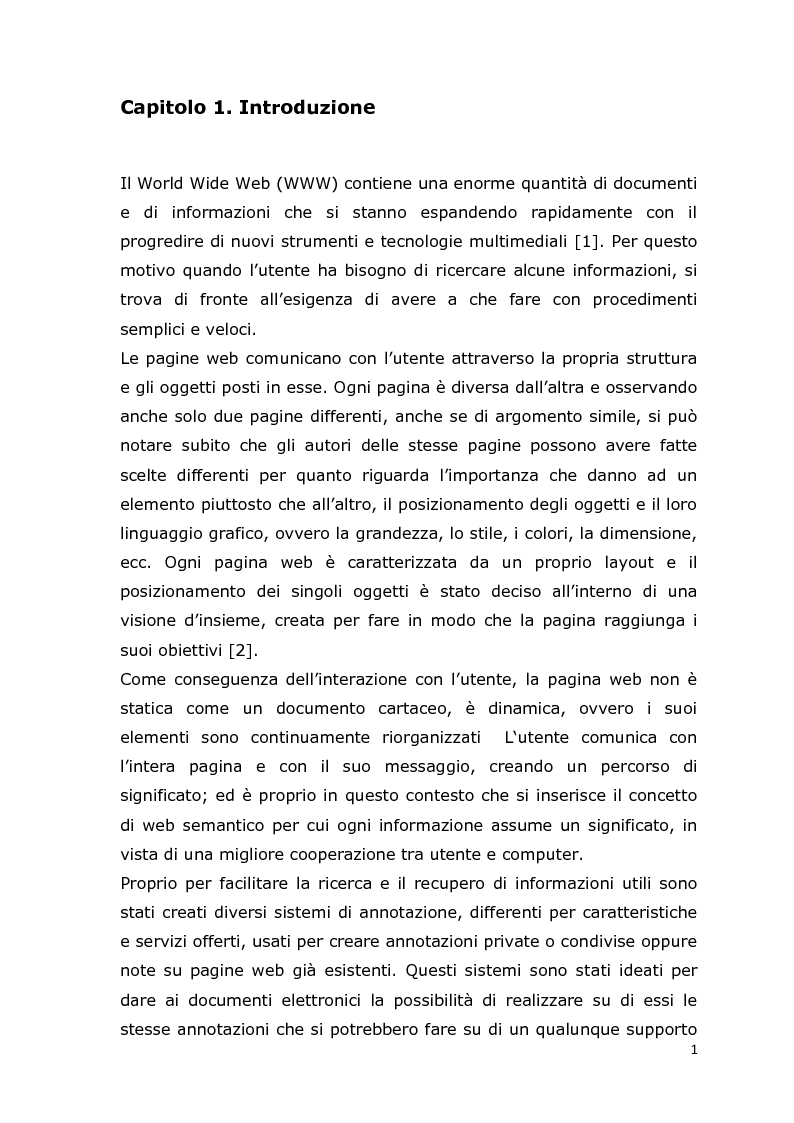 Anteprima della tesi: MCA Web Browser: indagine conoscitiva sulla valutazione di un sistema di supporto informatico agli studenti del corso CIM, Pagina 1