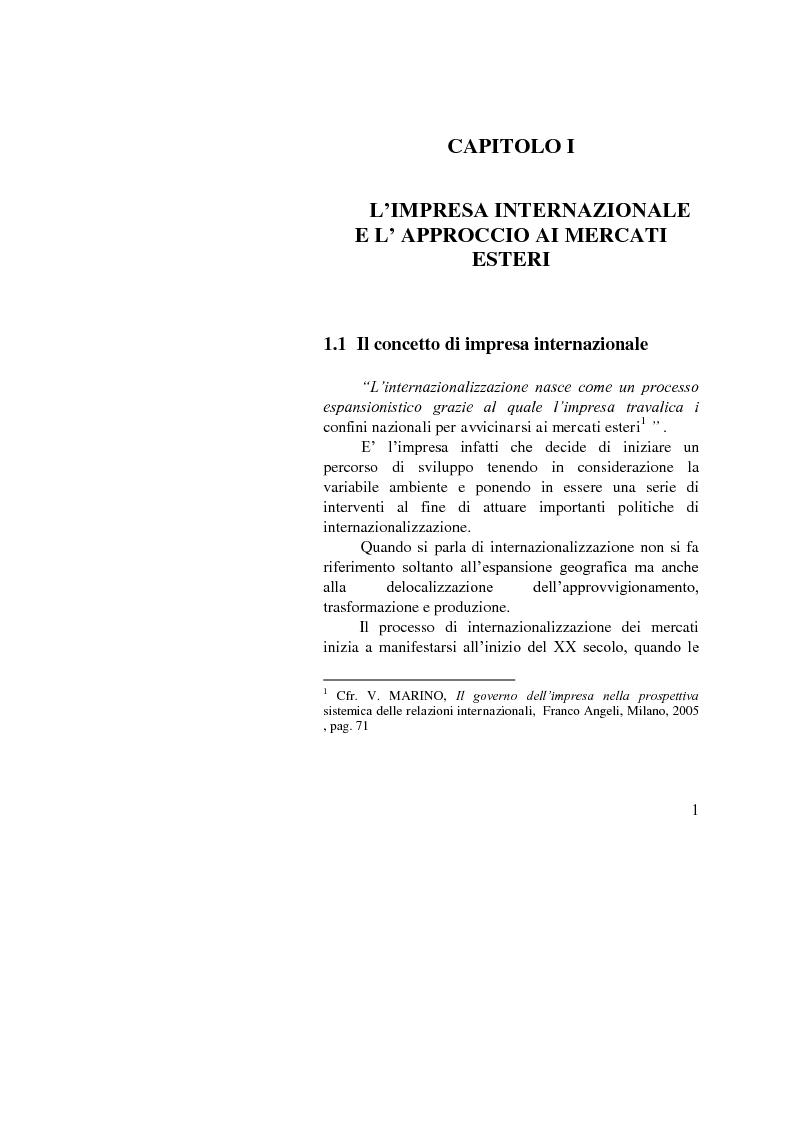 Anteprima della tesi: Il ruolo dell'importatore in uno scenario globale, Pagina 1