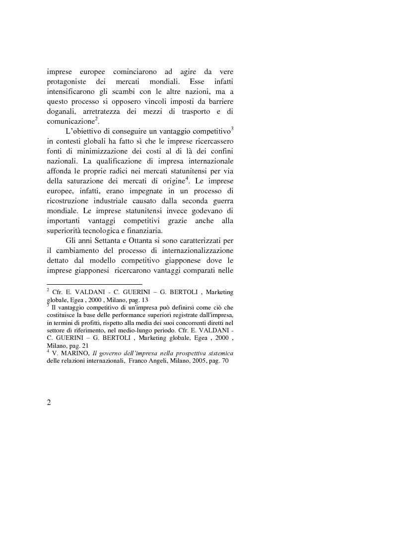 Anteprima della tesi: Il ruolo dell'importatore in uno scenario globale, Pagina 2