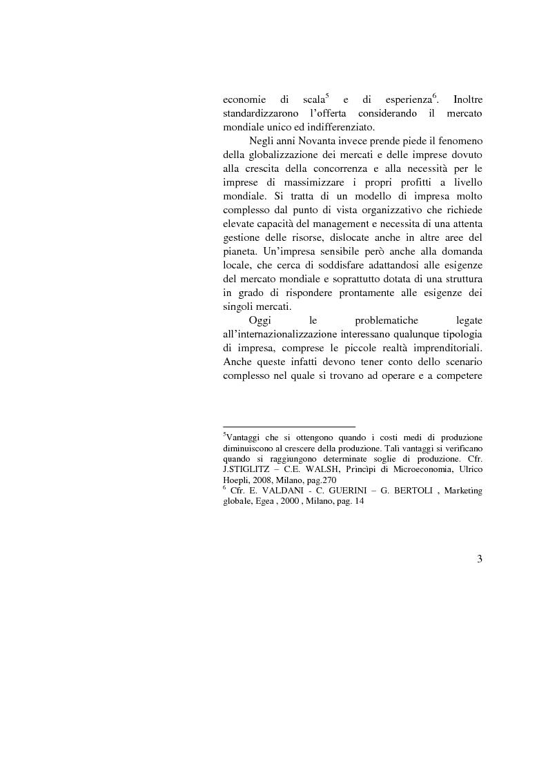 Anteprima della tesi: Il ruolo dell'importatore in uno scenario globale, Pagina 3