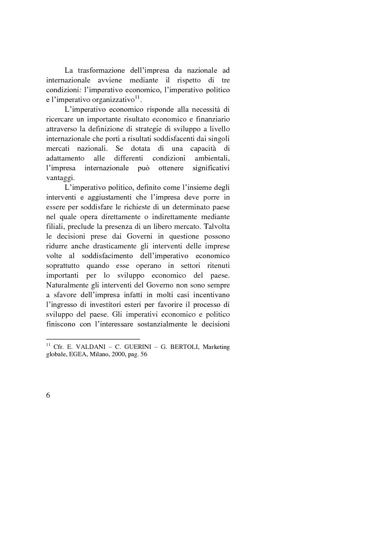 Anteprima della tesi: Il ruolo dell'importatore in uno scenario globale, Pagina 6