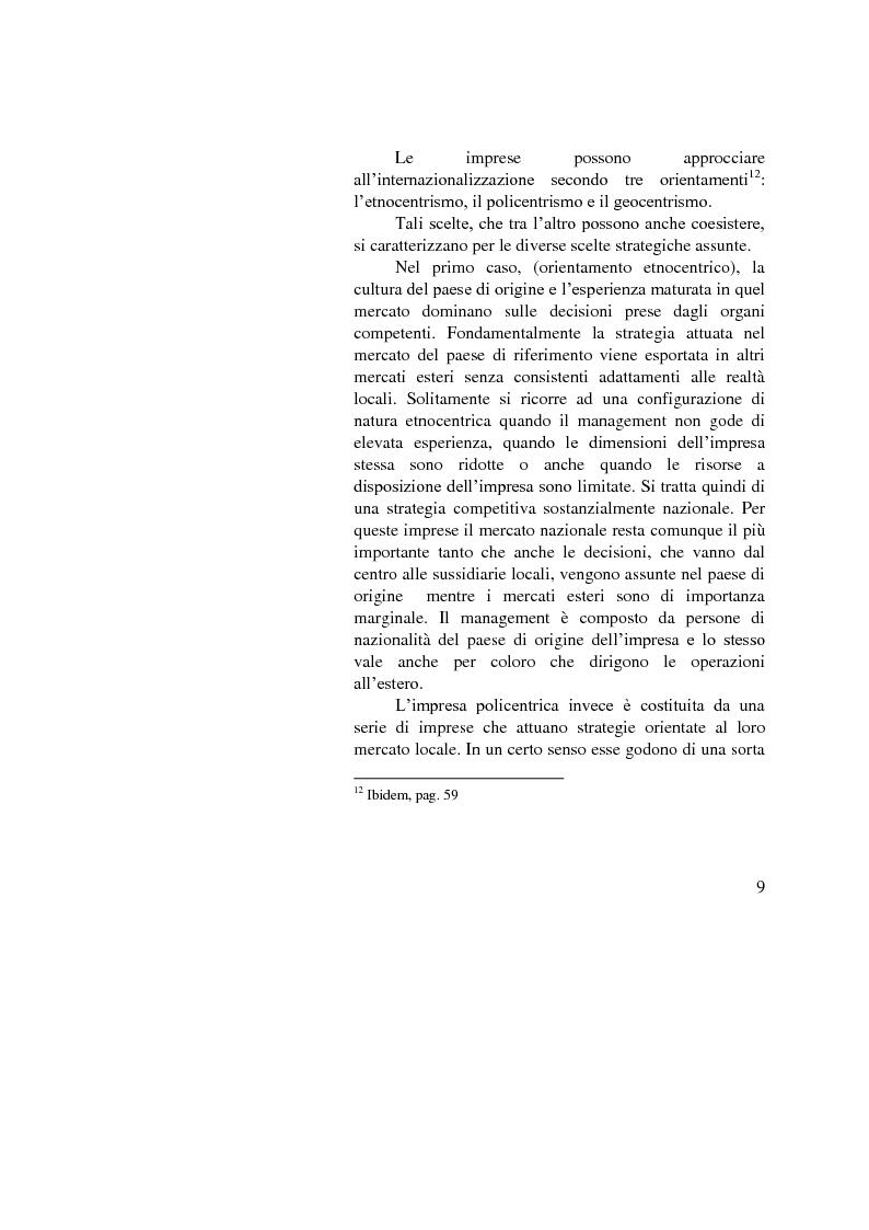Anteprima della tesi: Il ruolo dell'importatore in uno scenario globale, Pagina 9