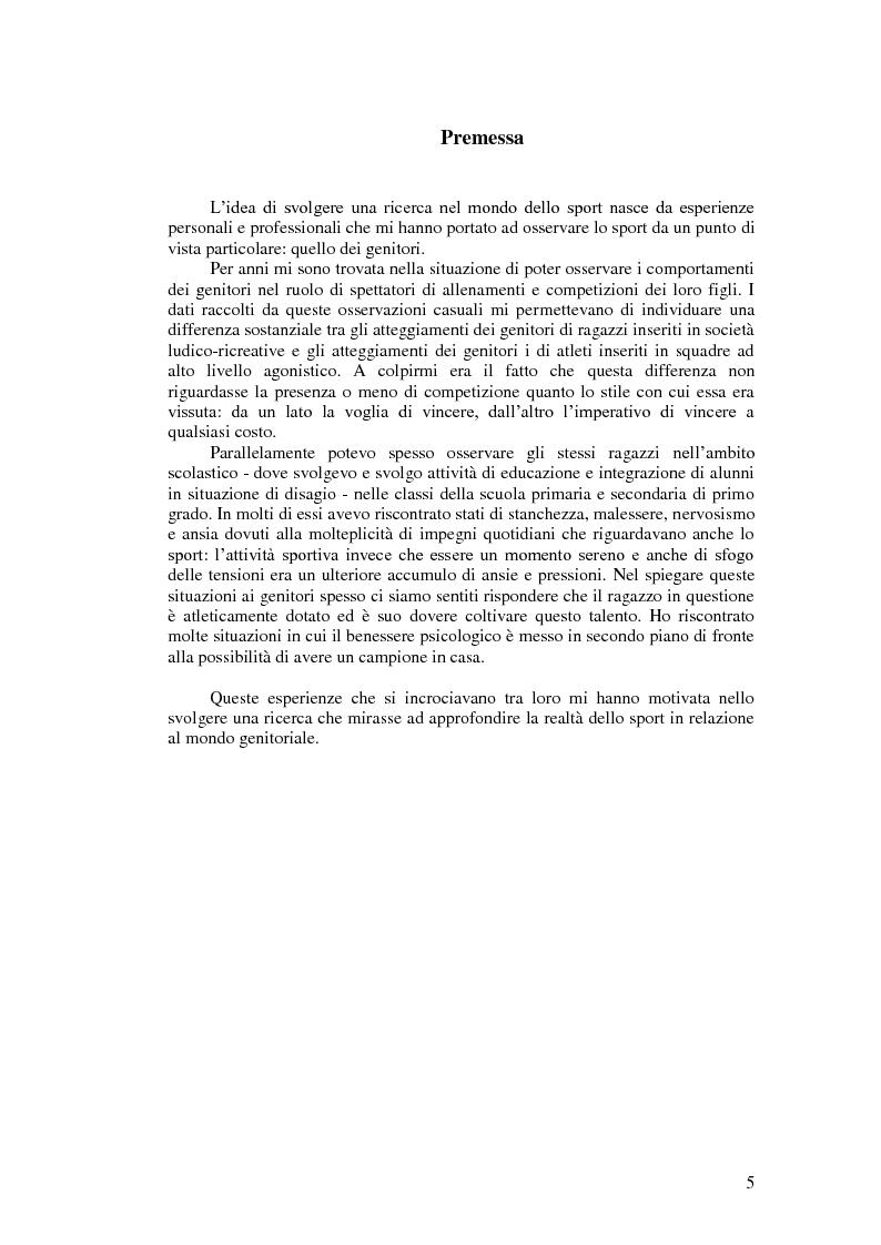 Anteprima della tesi: Il valore educativo dello sport - Una ricerca empirica, Pagina 1