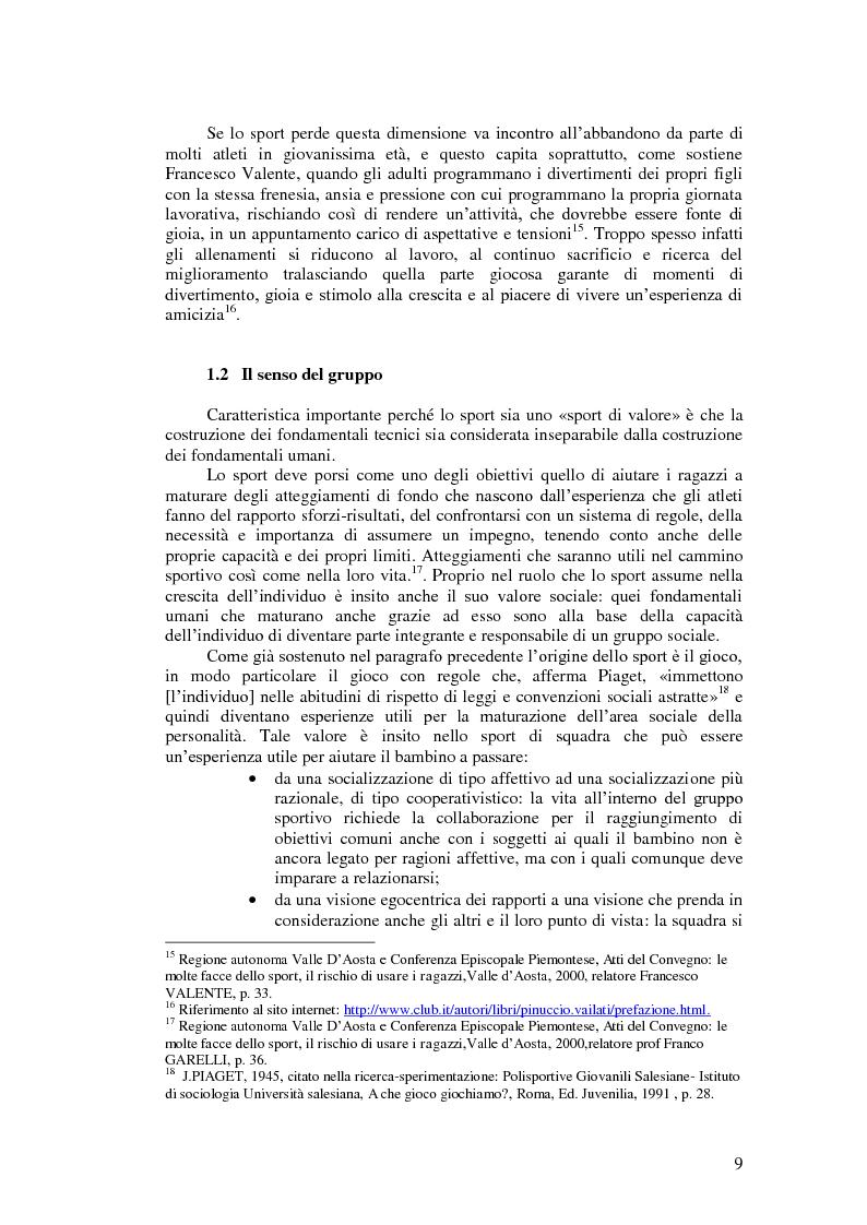 Anteprima della tesi: Il valore educativo dello sport - Una ricerca empirica, Pagina 5