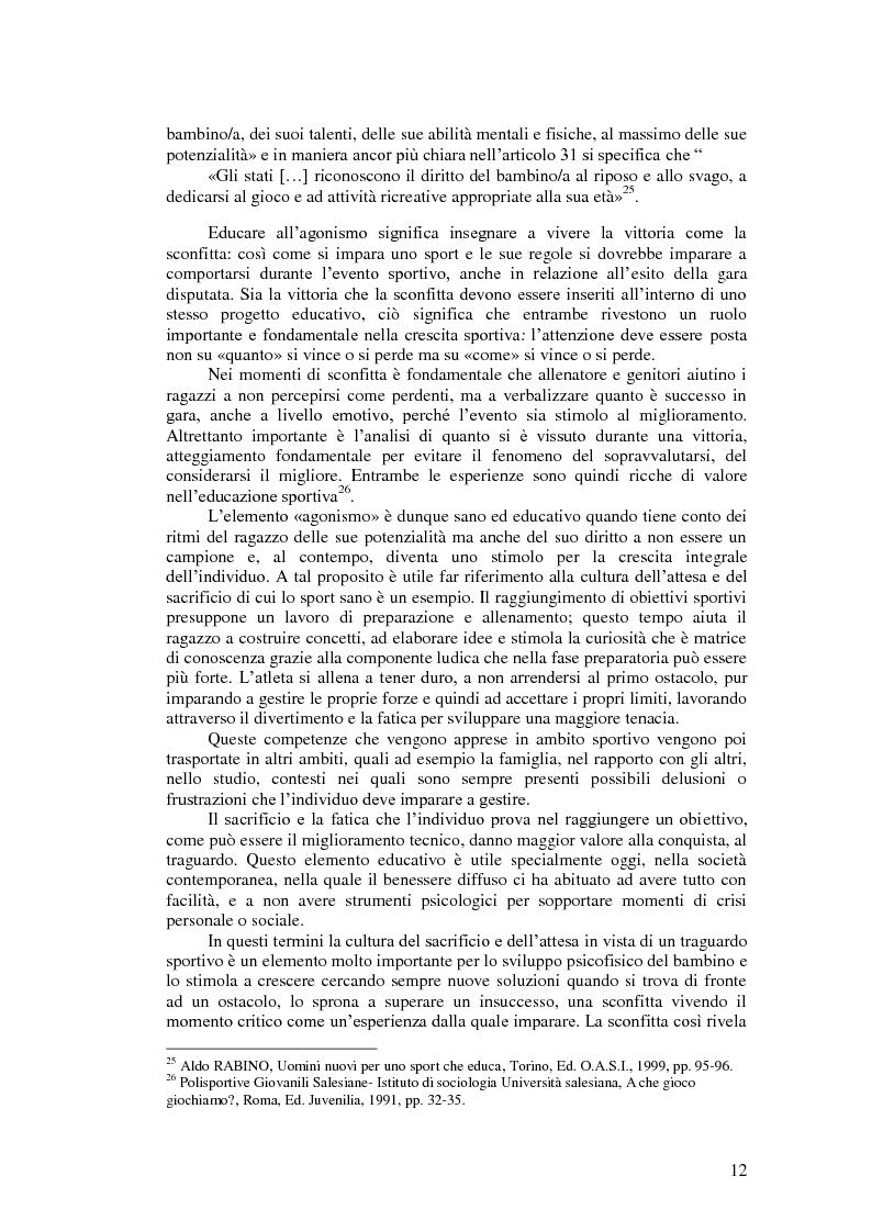 Anteprima della tesi: Il valore educativo dello sport - Una ricerca empirica, Pagina 8