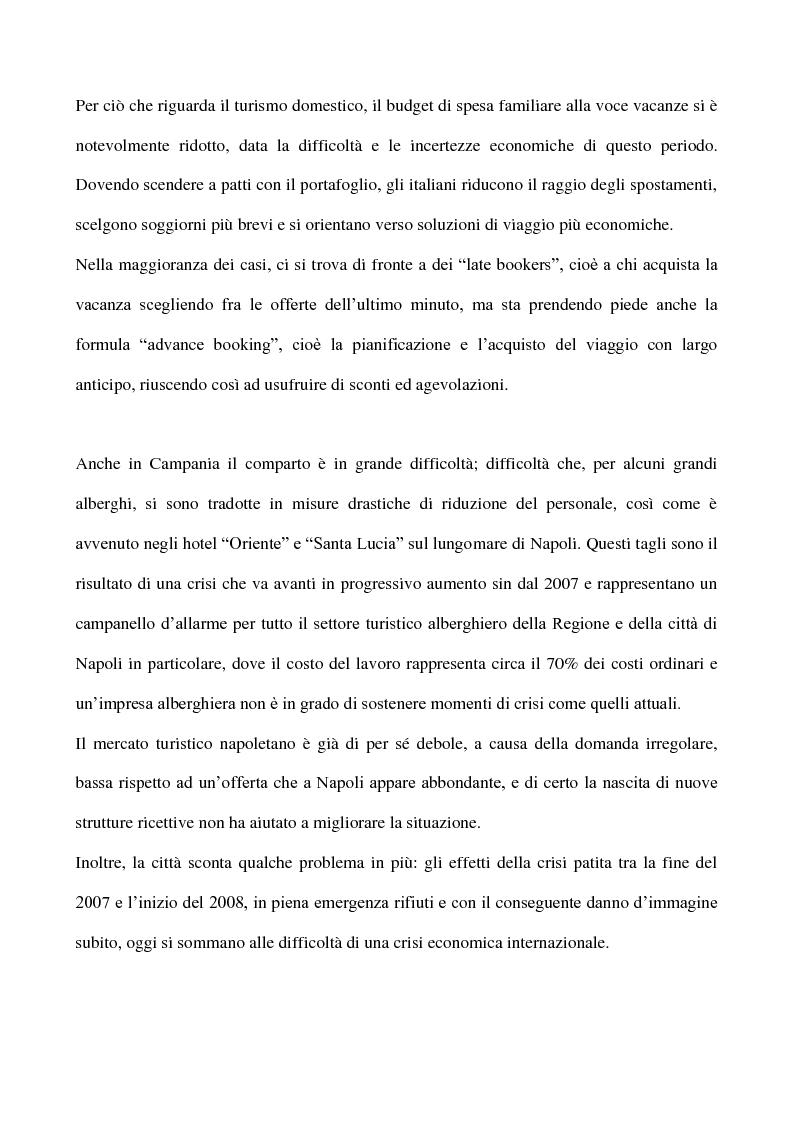 Anteprima della tesi: Cicli economici e comportamenti turistici: la crisi finanziaria e le ripercussioni sul turismo in Campania, Pagina 4