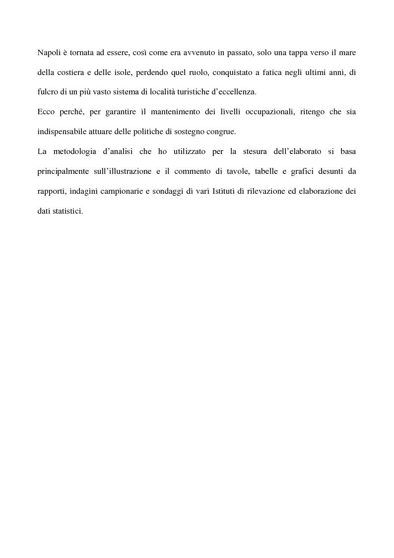 Anteprima della tesi: Cicli economici e comportamenti turistici: la crisi finanziaria e le ripercussioni sul turismo in Campania, Pagina 5