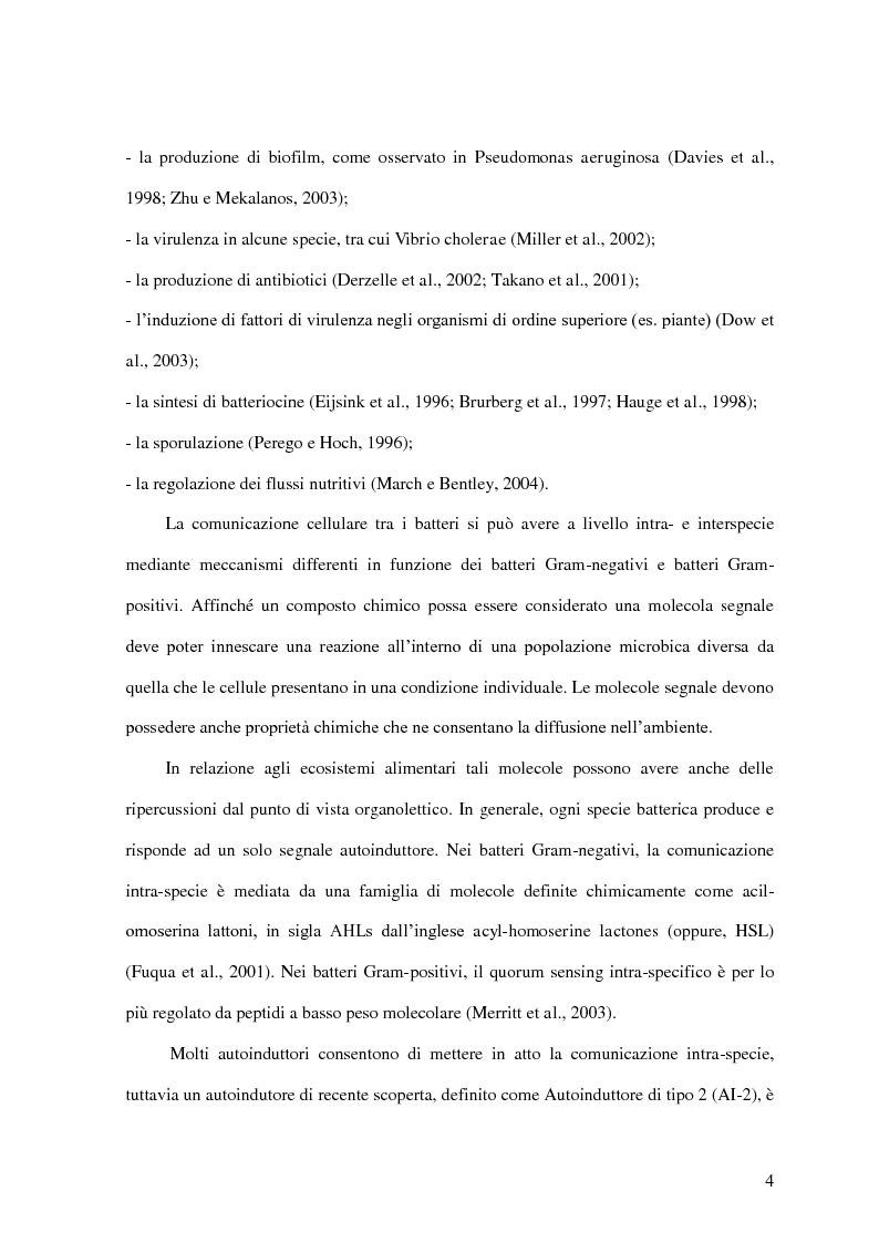 Anteprima della tesi: Comunicazione cellulare nei batteri lattici degli alimenti, Pagina 2