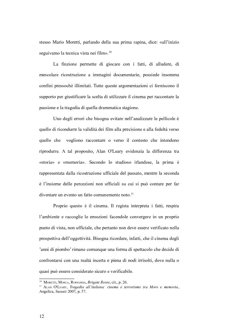 Anteprima della tesi: Il cinema e la lotta armata in Italia: dalla fabbrica al caso Moro, Pagina 12
