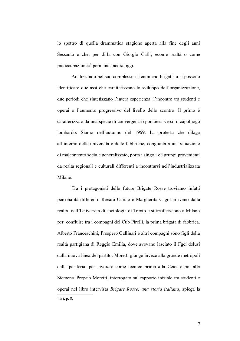 Anteprima della tesi: Il cinema e la lotta armata in Italia: dalla fabbrica al caso Moro, Pagina 7