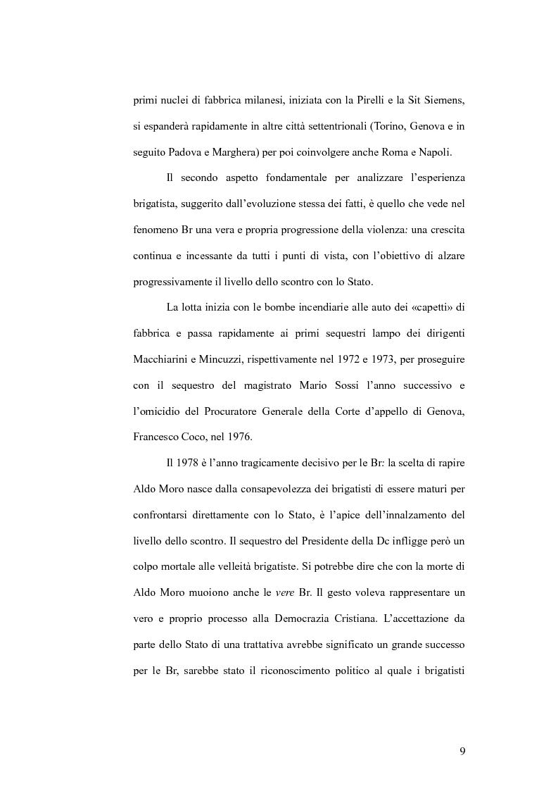 Anteprima della tesi: Il cinema e la lotta armata in Italia: dalla fabbrica al caso Moro, Pagina 9