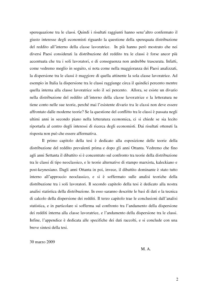Anteprima della tesi: La distribuzione del reddito dentro e tra le classi sociali: un confronto internazionale, Pagina 2
