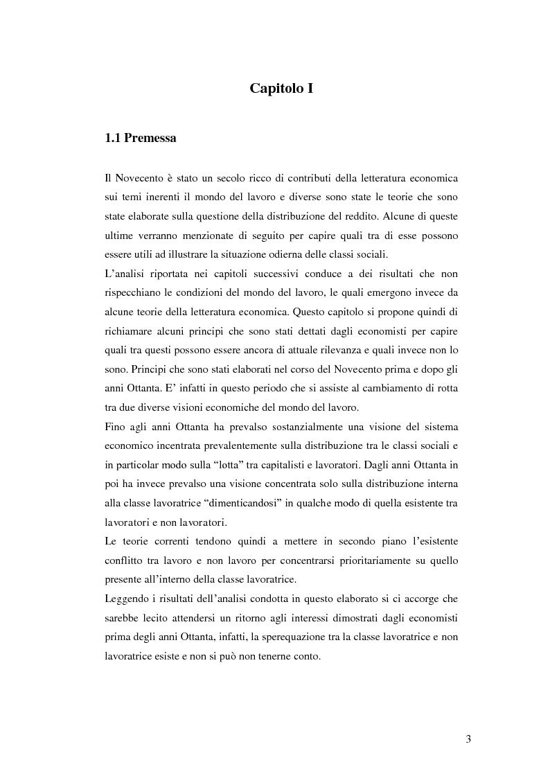 Anteprima della tesi: La distribuzione del reddito dentro e tra le classi sociali: un confronto internazionale, Pagina 3